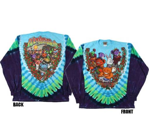 Grateful Dead Wonderland Jamband Tie Dye Long Sleeves