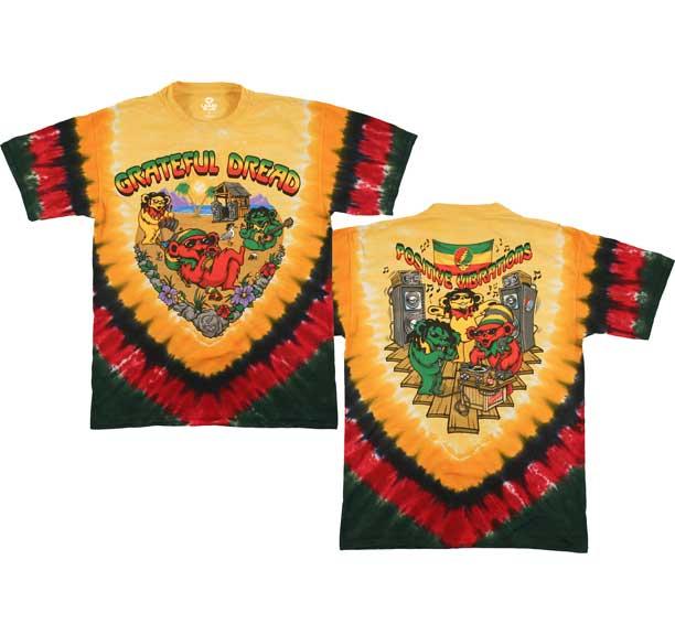 Grateful Dead Positive Vibrations Tie Dye