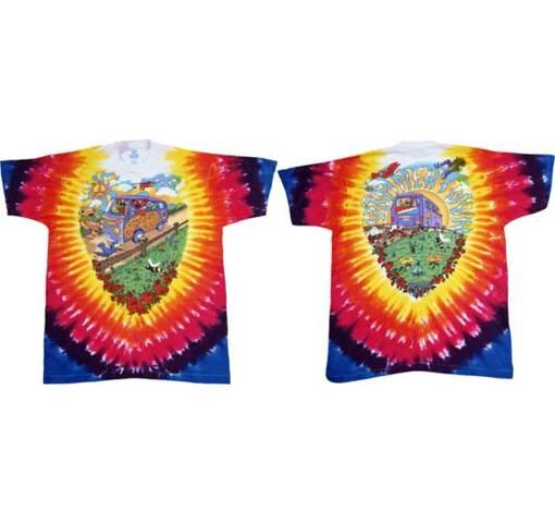 Grateful Dead Summer Tour Bus Tie Dye