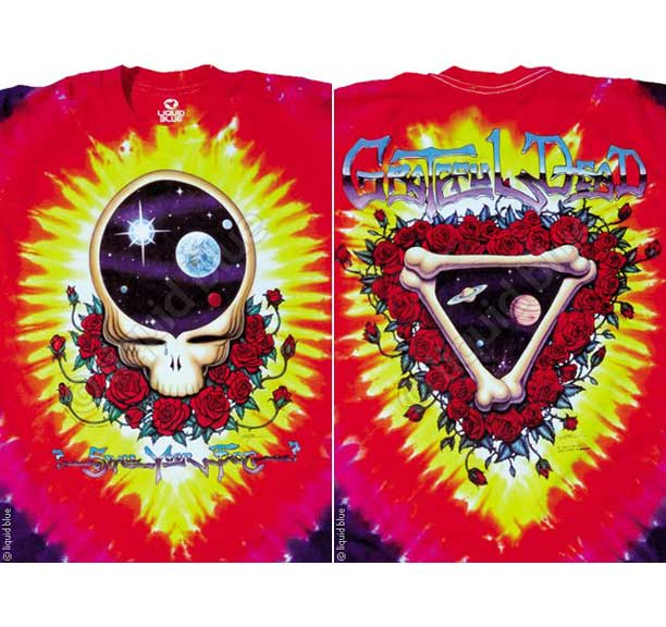 Grateful Dead Space Your Face Tie Dye Long Sleeves