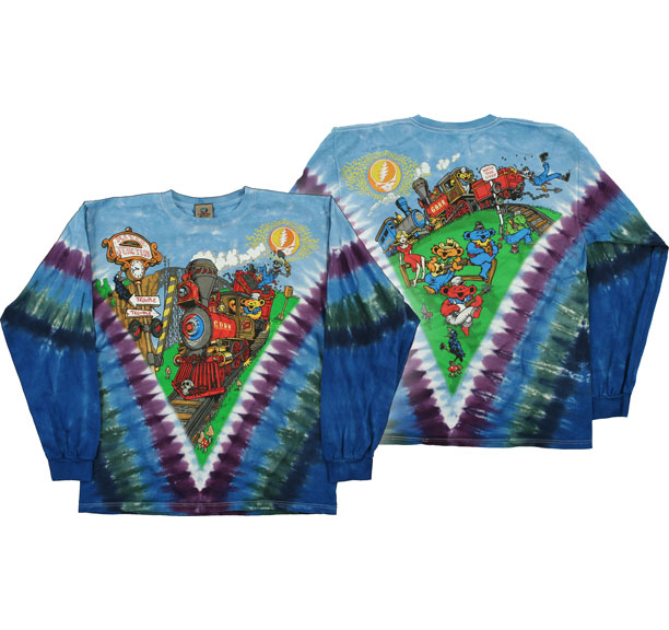 Grateful Dead Casey Jones Tie Dye Long Sleeves