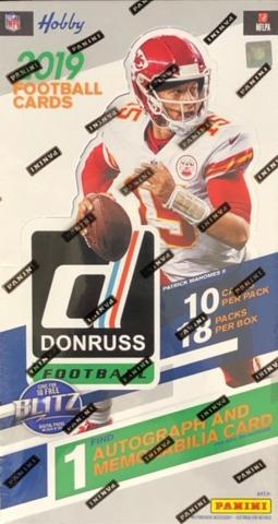 2019 Panini Donruss NFL Football Hobby Box