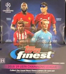 2018-19 Topps Finest UEFA Champions League Soccer Hobby Box