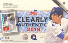 2019 Topps Clearly Authentic MLB Baseball Hobby Box