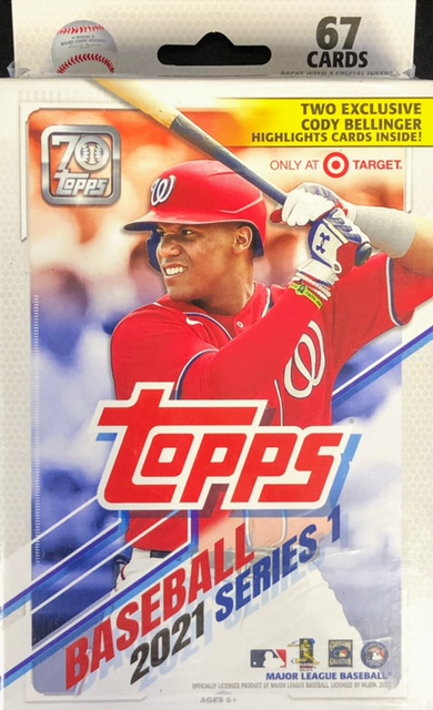 2021 Topps MLB Baseball Series 1 Hanger Box (Target Exclusive with Cody Bellinger Highlights Cards)