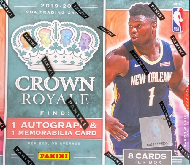 2019-20 Panini Crown Royale NBA Basketball Hobby Box