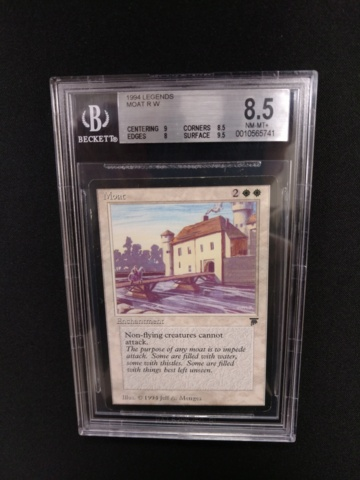 Moat BGS 8.5 NM-MT+ Legends MTG Magic Graded Card