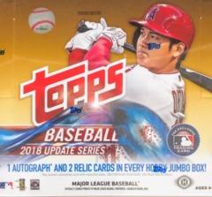 2018 Topps Update Series MLB Baseball Jumbo Box