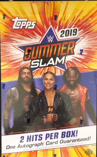 2019 Topps WWE SummerSlam Trading Cards Hobby Box