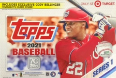 2021 Topps MLB Baseball Series 1 Mega Box (Target Exclusive with Cody Bellinger Highlights cards)