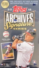 2018 Topps Archives Signature Series MLB Baseball Hobby Box - Retired Player Edition