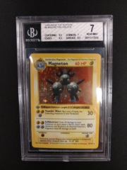 Magneton 9/102 1st Ed Base Set BGS 7 Pokemon Graded Card