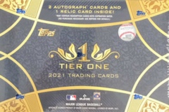 2021 Topps Tier One 1 MLB Baseball Hobby Box