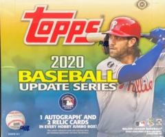 2020 Topps MLB Baseball Update Series Jumbo Box