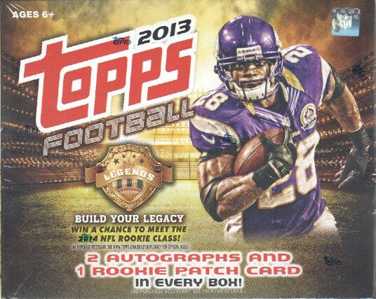 2013 Topps NFL Football Jumbo Box