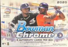 2020 Bowman Chrome MLB Baseball Jumbo Box