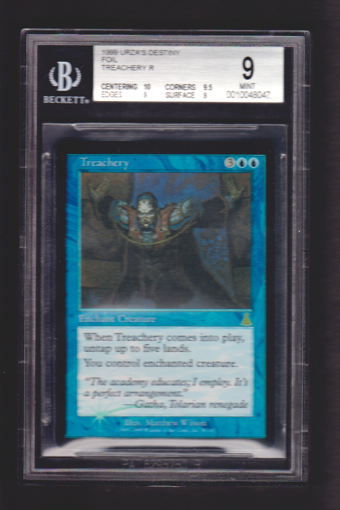 Treachery FOIL BGS 9 MINT - Urza's Destiny MTG Magic Graded Card