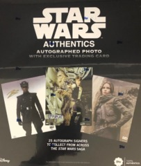 2019 Topps Star Wars Authentics Autographed Photo & Trading Card Box