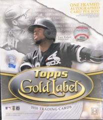 2020 Topps Gold Label MLB Baseball Hobby Box