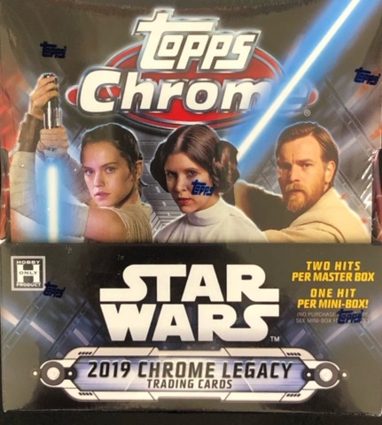2019 Topps Star Wars Chrome Legacy Hobby Master Box
