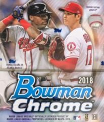 2018 Bowman Chrome MLB Baseball Hobby Box