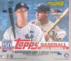 2019 Topps Series 1 MLB Baseball Jumbo Box