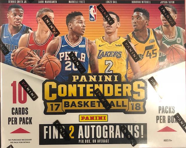2017-18 Panini Contenders NBA Basketball Hobby Box