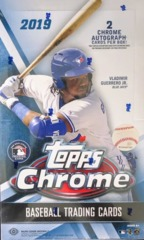 2019 Topps Chrome MLB Baseball Hobby Box