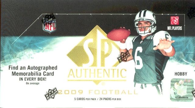 2009 Upper Deck SP Authentic NFL Football Box