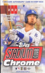 2020 Topps Stadium Club Chrome MLB Baseball Hobby Box