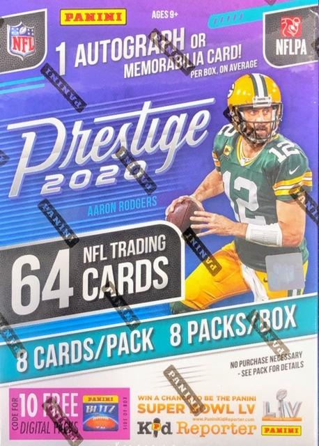 2020 Panini Prestige NFL Football Blaster Box