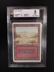 Badlands BGS 8 NM-MT Unlimited MTG Magic Graded Card