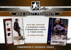 2014 Leaf ITG In the Game Draft Prospects Hockey Hobby Box