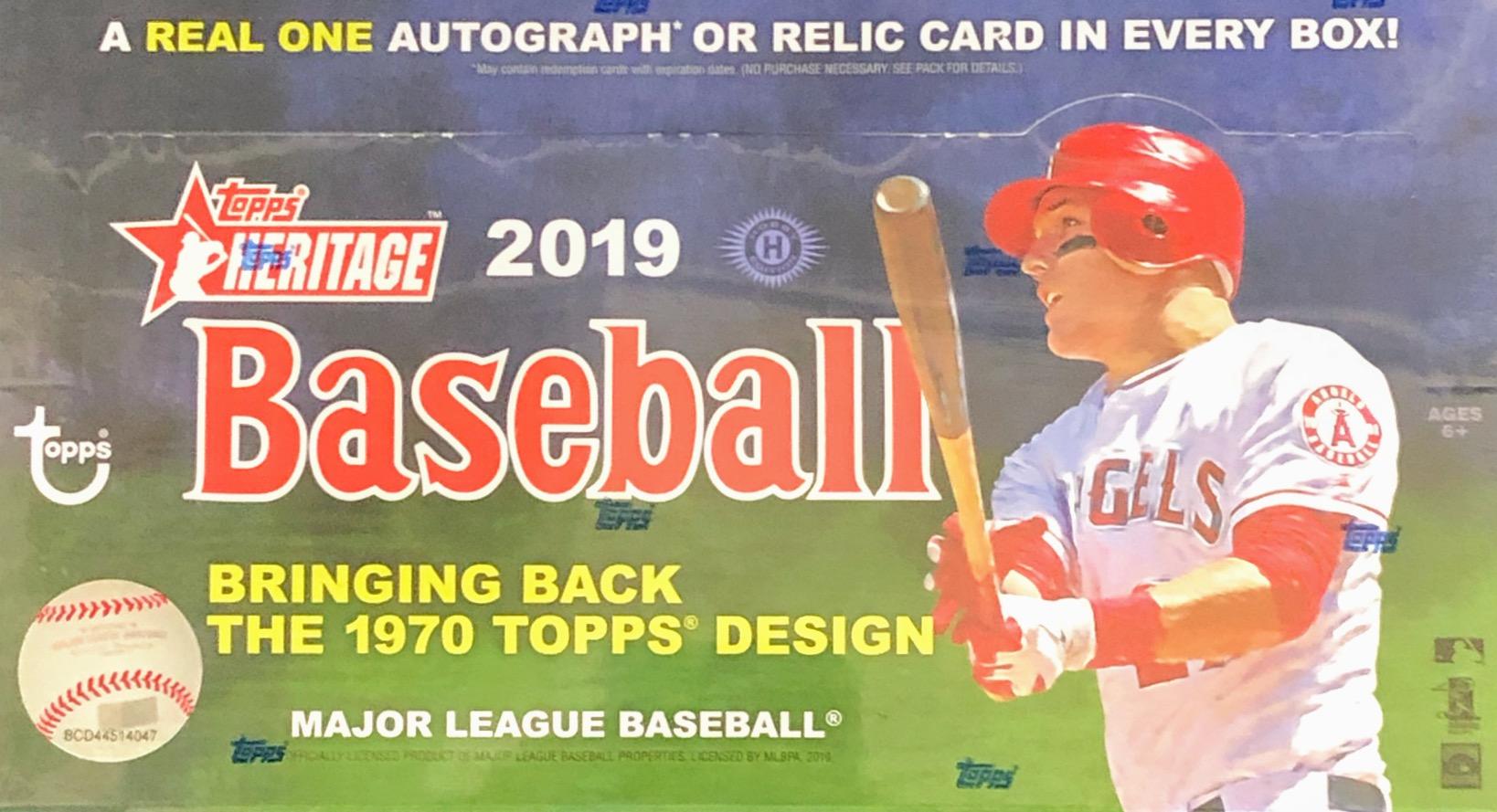 2019 Topps Heritage MLB Baseball Hobby Box