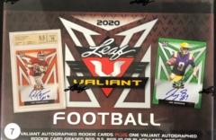 2020 Leaf Valiant Football Hobby Box