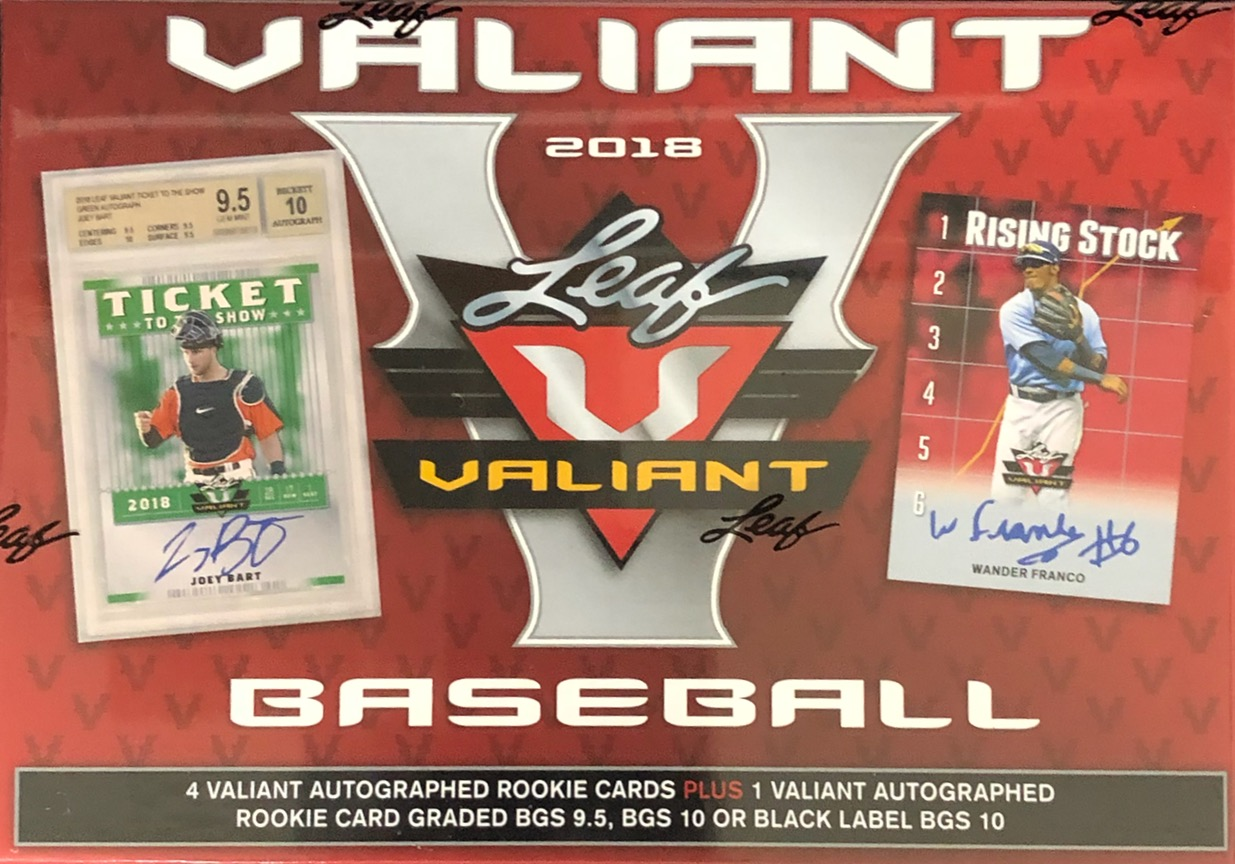2018 Leaf Valiant Baseball Box