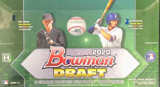 2020 Bowman Draft MLB Baseball Jumbo Box