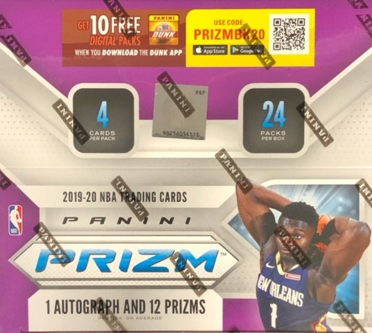 2019-20 Panini Prizm NBA Basketball Retail Box
