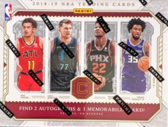 2018-19 Panini Cornerstones NBA Basketball Hobby Box