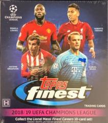 2018-19 Topps Finest UEFA Champions League Soccer Hobby Mini Box