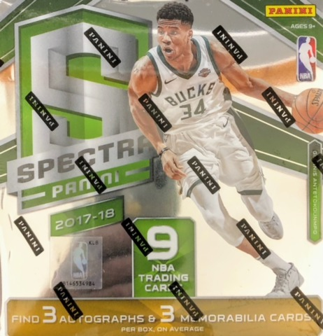 2017-18 Panini Spectra NBA Basketball Hobby Box