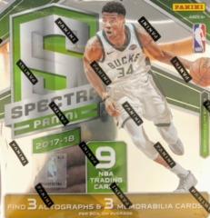 2017-18 Panini Spectra NBA Basketball Hobby Box