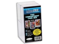 Ultra Pro Plastic 2-compartment Card Box