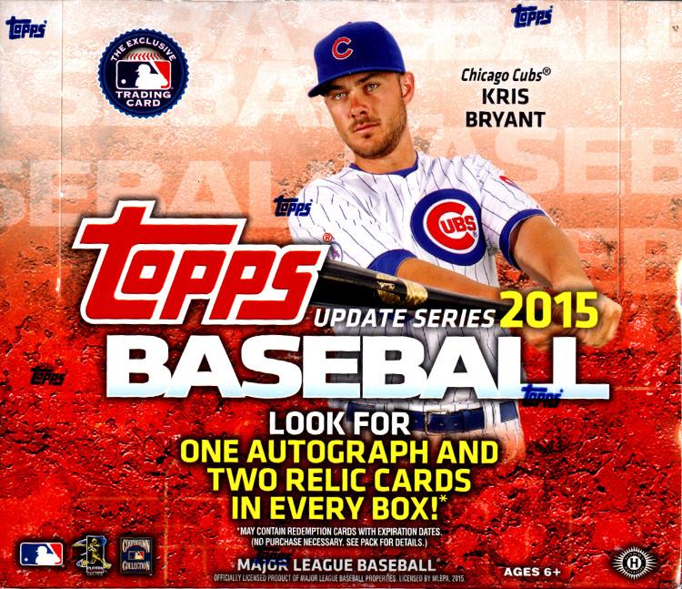 2015 Topps Update Series MLB Baseball Jumbo Box