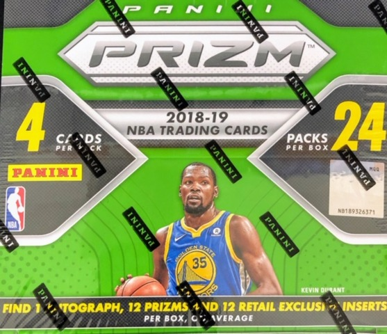 2018-19 Panini Prizm NBA Basketball Retail Box
