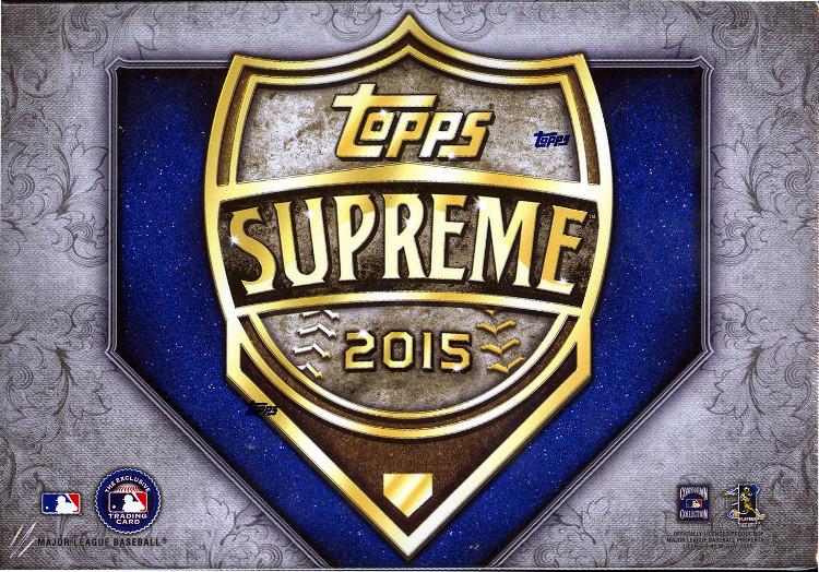 2015 Topps Supreme MLB Baseball Hobby Box
