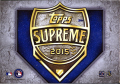 2015 Topps Supreme MLB Baseball Hobby Box