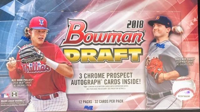 2018 Bowman Draft MLB Baseball Jumbo Box