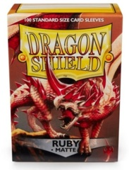 Dragon Shield Sleeves: Matte Ruby (Box of 100)