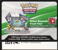 Unbroken Bonds: Unused Booster Pack TCGO Code Card